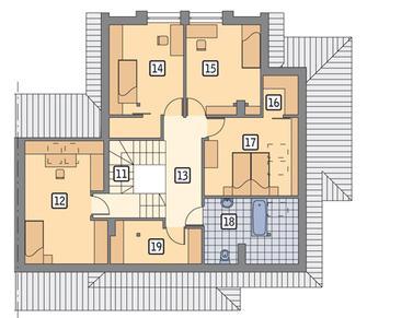 RZUT PODDASZA POW. 72,7 m²